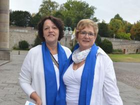Diözesanvorsitzende Edeltraud Hann und Schatzmeisterin Regina Krebs